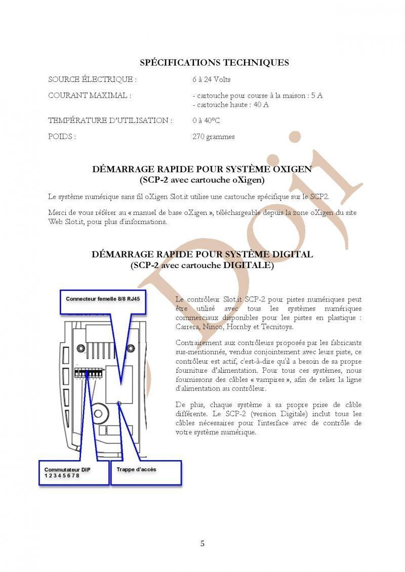 Manuel en français Poignée SLOT IT SCP-2 page 5/23