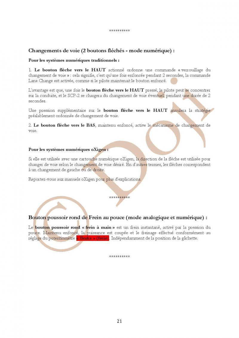 Manuel en français Poignée SLOT IT SCP-2 page 21/23