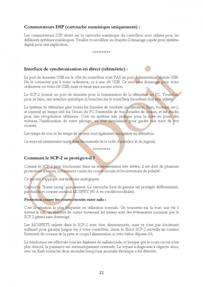 Manuel en français Poignée SLOT IT SCP-2 page 22/23