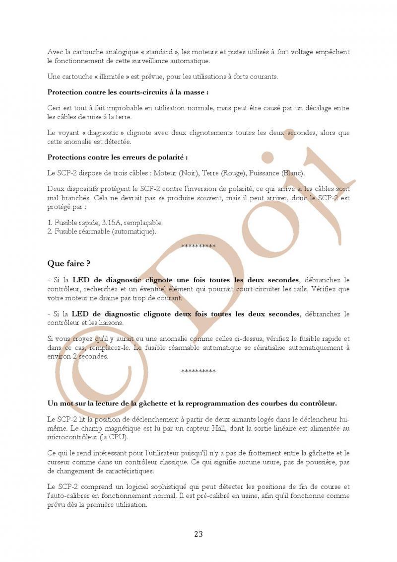 Manuel en français Poignée SLOT IT SCP-2 page 23/23